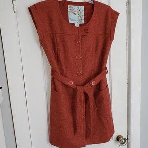 Anthropologie Dresses - Anthropologie Tabitha dress size 12 dark orange